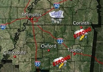 Mississippi Winter: Saturday strong storms give way to snow/ice possibility