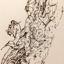 Zahari Hamidon, Title: Ants, Year: 2019 Pen and Ink on Paper (Digital Print)