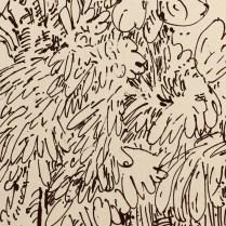 Zahari Hamidon, Title: Tropica, Year: 2018, Pen and Ink on paper