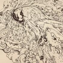 Artist: Zahari Hamidon, Title: Elements of Nature, Medium: Pen and Ink on paper (Digital Print), Year: 2019