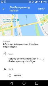 Google Maps Baustelle Melden