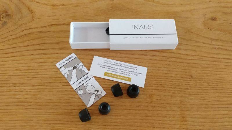 InAirs Test Memory Foam Tips