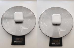 TWS i80 von Ebay Test und Vergleich Waage Gewicht