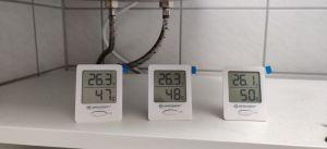 Bresser Thermometer und Hygrometer 3er Set Test Bad