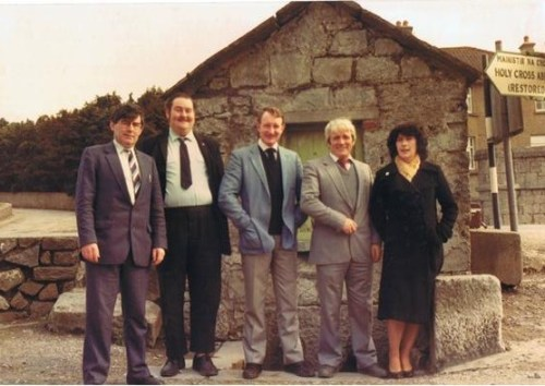 Seamus Maguire pictured second from the left