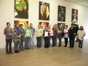 Learners of Thurles Education Centre in The Source Arts Centre, with Artist Rowena Keaveny.