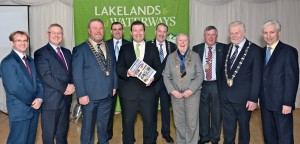 Minister Alan Kelly (Minister of State at the Department of Transport, Tourism and Sport) pictured (centre) at the launch of Fáilte Ireland's Plan for Lough Derg at the Lakeside Hotel, Ballina/Killaloe. Also pictured (l-r) is Brian Barrett (Galway County Council); Tony Dawson (Fáilte Ireland's Client Services Officer); Cllr Joe Arkins (Mayor of Clare); Ger Dollard (Director of Services, Clare County Council); Cllr. Ger Darcy (Mayor of North Tipperary); Cllr. Kathleen Leddin (Mayor of Limerick); Cllr. John Egan (Leas Cathaoirleach, Limerick County Council); Cllr. Oliver Garry (Cathaoirleach, MWRA); and Mr. Joe MacGrath (LDMSG Chairperson)