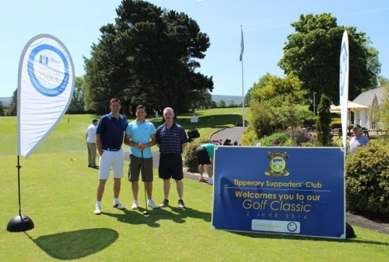 Niall Quinn, former Dublin minor and international footballer, Conal Keaney, Dublin hurler and footballer and Nicky English, another Tipperary legend who enjoyed the golf day in Edmonstown Golf Club.