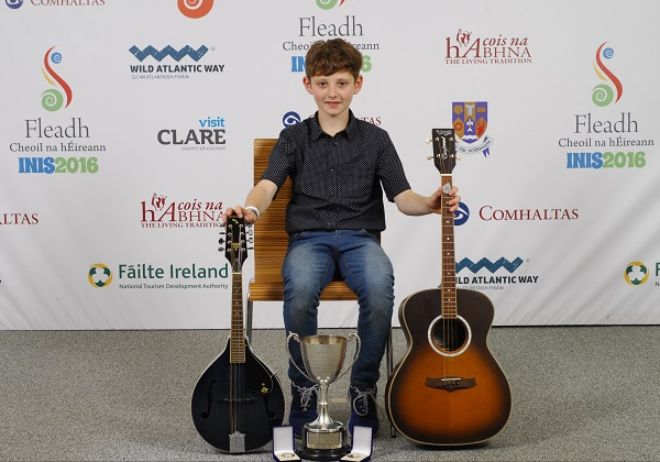Evin O Regan of Tipperary, who came first in the Miscellaneous and Mandolin U-12  category at the 2016 Comhaltas Ceoltóirí Éireann All Ireland Fleadh Cheoil in Ennis. Photograph by Loretto O Loughlin/www.instantimageireland.com.