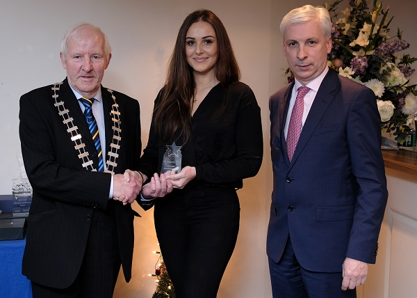 Cllr. Mattie Ryan, Evie Ward, Nut Shed, Runner Up County IBYE Best Start Up Business and Joe MacGrath Chief Executive Tipperary County Council