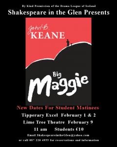 Excel Arts Centre Presents John B. Keane's Big Maggie