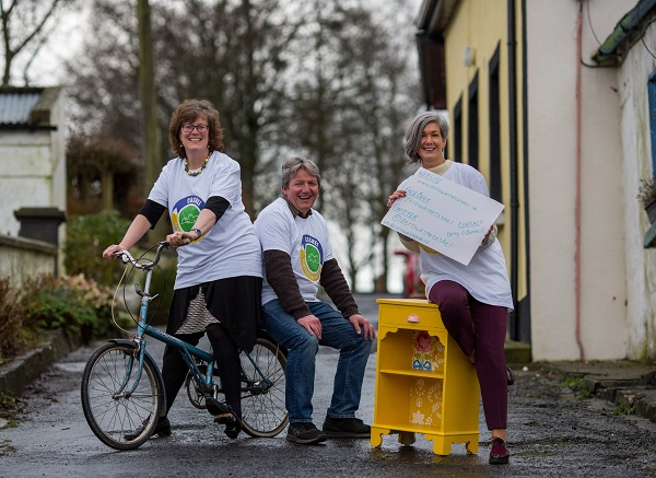 Helping to launch and announce details of Towards Zero Waste Cashel were, Mindy O'Brien, Voice, Derry O'Donnell, Zero Waste Cashel and Pauline McDonagh, Waste Prevention Officer, Southern Waste Region. Picture: Alan Place