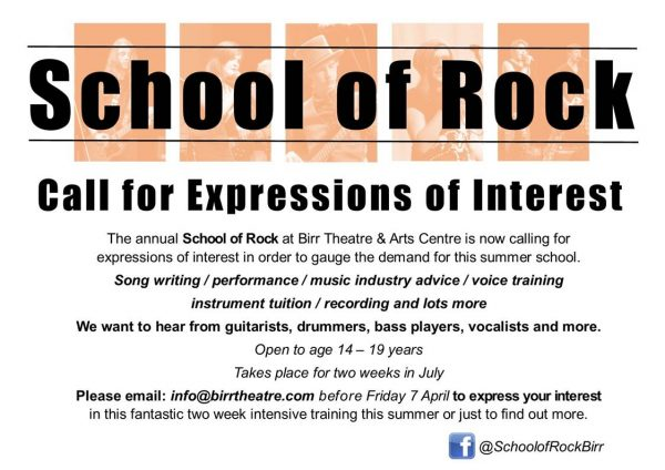 Fwd: Call For Expressions of Interest: Birr School of Rock 2017