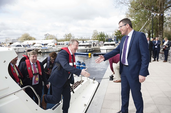 The Minister of State for the Office of Public Works and Flood Relief, Mr. Seán Canney, T.D., today opened the refurbished Harbour and Amenity Park on the Shannon Navigation in Portumna.