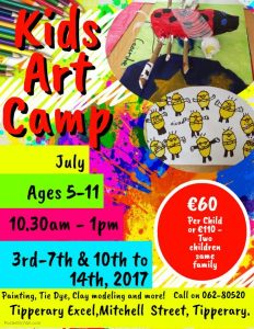 Kids Art Camp At The Tipperary Excel
