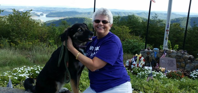 Tippy and I at Veterans Overlook.