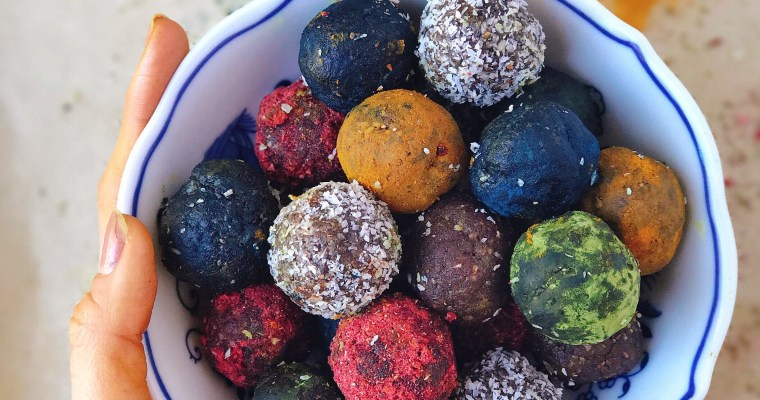 Rainbow Superfood Energy Balls
