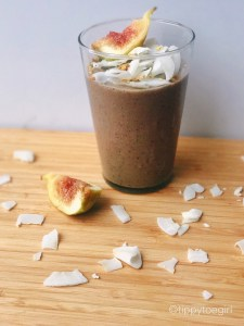 Coconut Fig Green Tea Smoothie