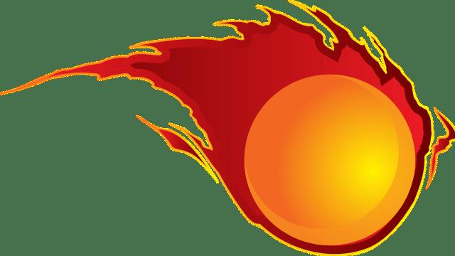 青森県の梵珠山の火の玉