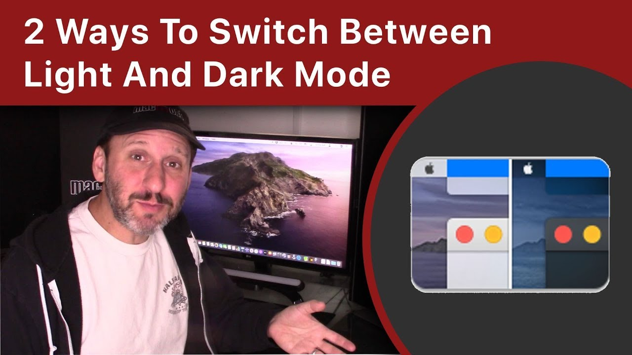 2 Ways To Quickly Switch Between Light And Dark Mode On Your Mac