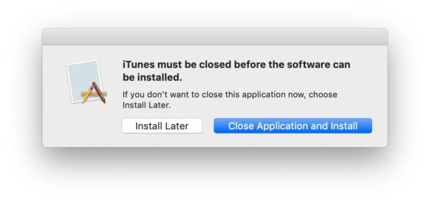 Close and relaunch iTunes to finish