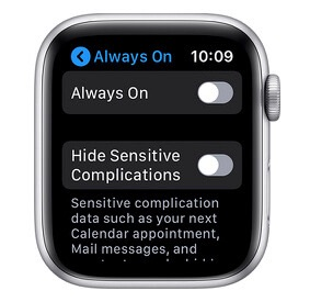 How to disable Always On Apple Watch display