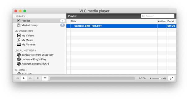 Playing SWF files on Mac with VLC