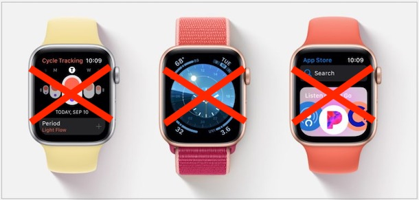 Apple Watches with crosses on