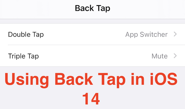 iOS 14 Back Tap header