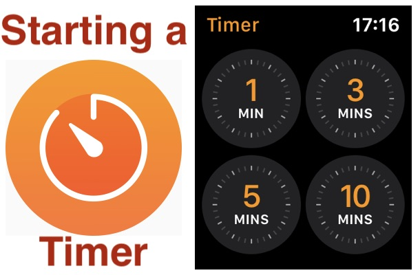 Starting an Apple Watch timer