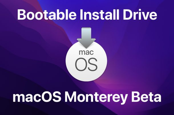 Create a bootable install drive for macOS Monterey beta
