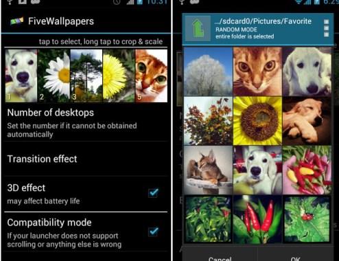 Aplikasi android, Fivewallpaper