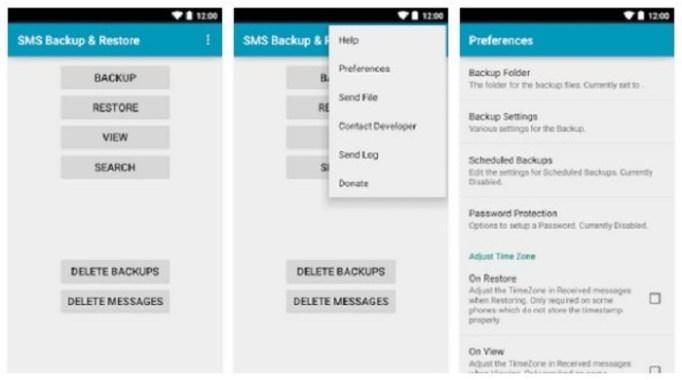 Download , aplikasi SMS Backup dan Restore