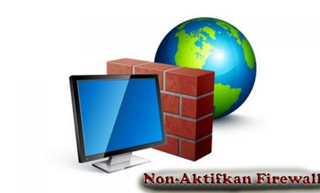 Nonaktifkan Firewall