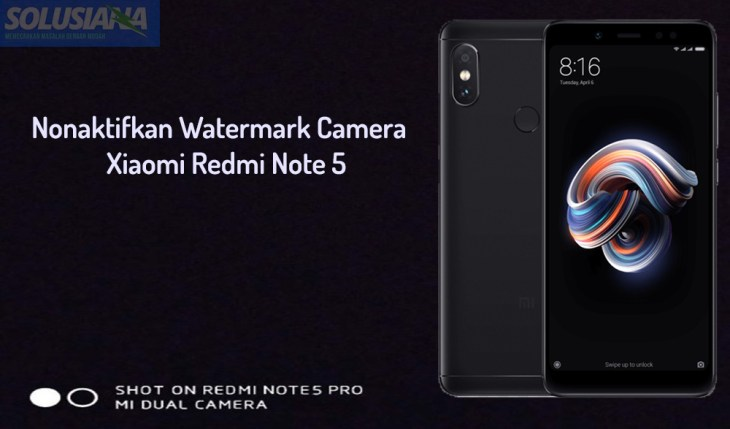 Watermark Kamera Xiaomi Redmi Note 5
