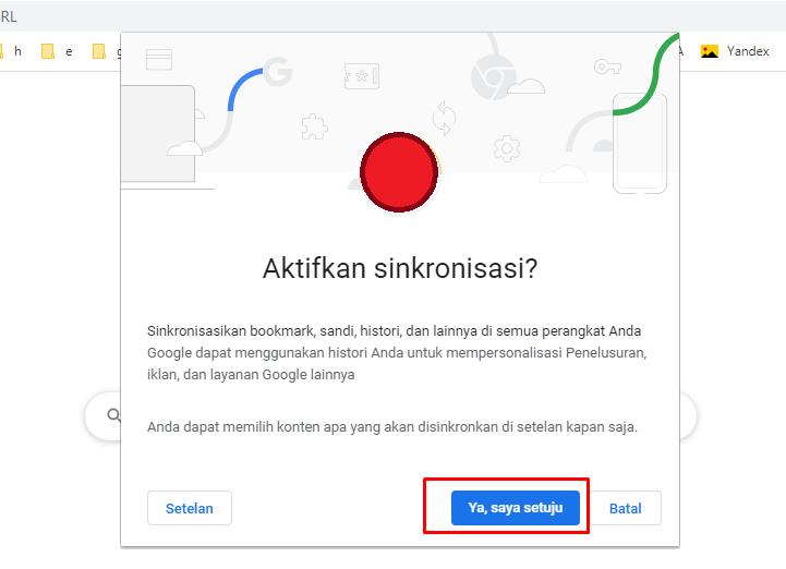 Mengaktifkan Sinkronisasi di Google Chrome