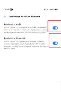 Scanning WiFi dan Bluetooth