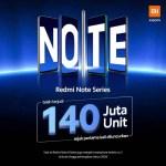 Seri Redmi Note Terjual Hingga 140 Juta Unit Lebih