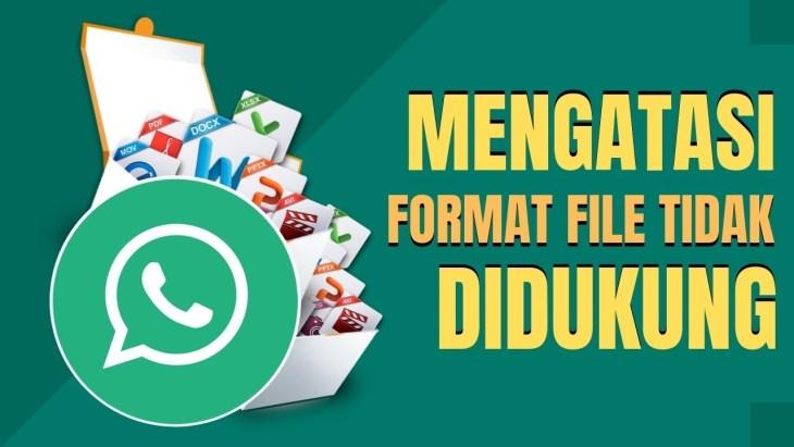 Cara Atasi Format File Tidak Didukung di WhatsApp
