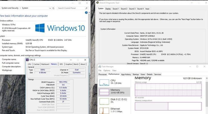 Mengetahui Jumlah RAM Windows 10 Dengan 3 Cara Ini