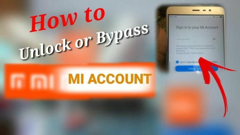 how to unlock mi account