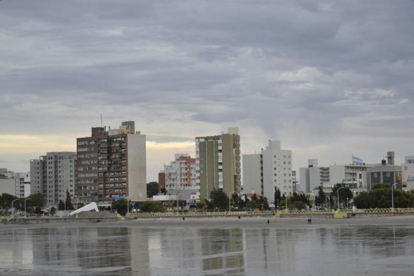 Puerto Madryn visto dalla spiaggia
