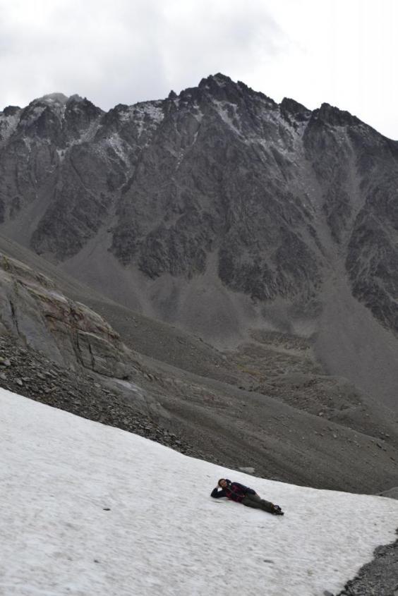 Ghiaccio sul Martial ad Ushuaia Tierra del Fuego