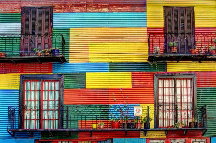 Case colorate al Caminito nel quartiere La Boca di Buenos Aires
