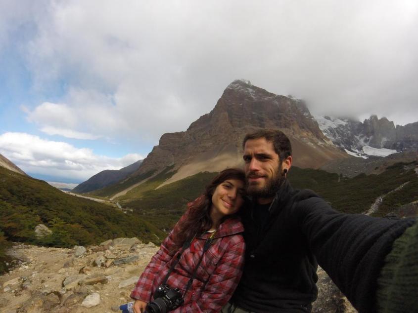 "Panorama dal Mirador Britannico al trekking ""W"" nel Parco Nazionale Torres del Paine in Cile"