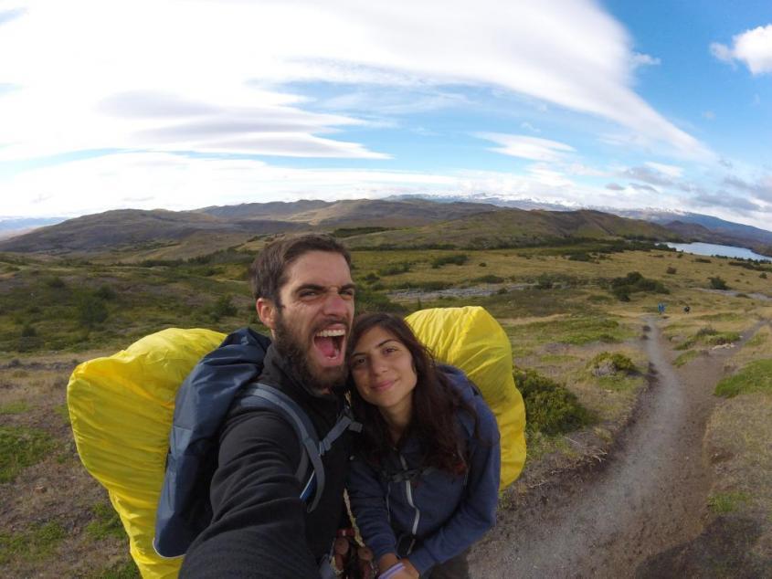 "Paesaggi del trekking ""W"" nel Parco Nazionale Torres del Paine in Cile"