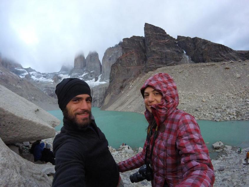 Alba a Los Cuernos nel Parco Nazionale Torres del Paine in Cile