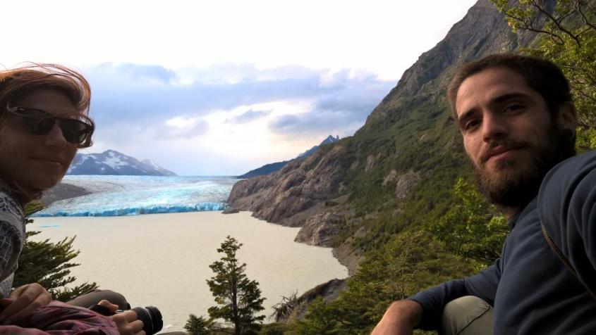 Colazione al Glaciar Grey nel Parco Torres del Paine in Cile
