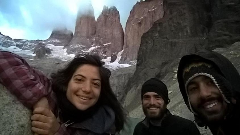 """Alba a Los Cuernos nel trekking """"W"""" nel Parco Nazionale Torres del Paine in Cile"""