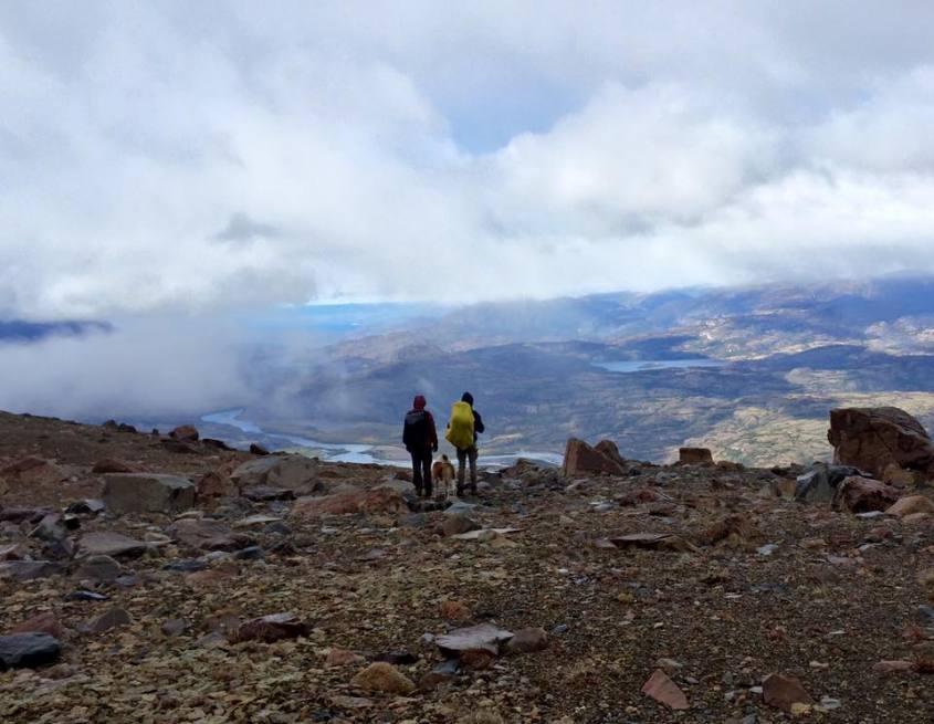 Vista dalla cima della Montagna Cerro Castillo in Cile